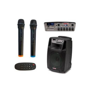 Audiodesign Pro M2 12 W/L 150 watt A BATTERIA CON MICROFONI WIRELESS