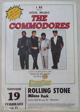 Locandina originale THE COMMODORES Live 1987