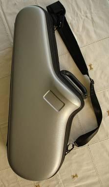 custodia sax alto BAM, bicolore argento / nero