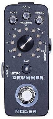 MOOER MICRO DRUMMER - DIGITAL DRUM MACHINE - DRUM MACHINE DIGITALE A PEDALE