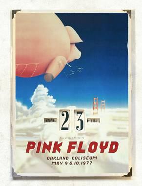 Raro Calendario perpetuo da parete Pink Floyd - Concerto Oakland Maggio 1977