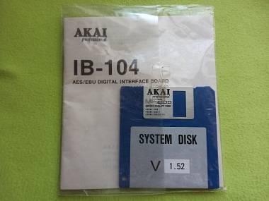 Akai IB-104 AES/EBU DIGITAL INTERFACE BOARD - SYSTEM DISK ORIGINALE