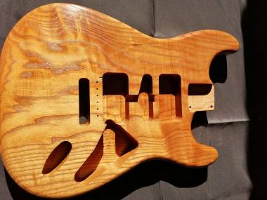 Body stratocaster Style Roasted American Ash