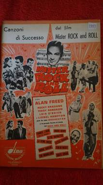 "SOUNDTRACK SHEET MUSIC -ALBUM DAL FILM ""MISTER ROCK and ROLL"" ED.DINO 1958"