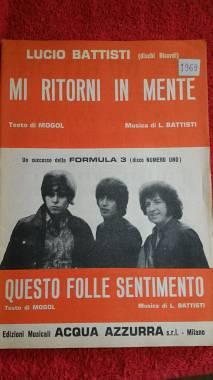 """LUCIO BATTISTI """"MI RITORNI IN MENTE"""" + FORMULA 3 """"QUESTO FOLLE SENTIMENTO"""""""