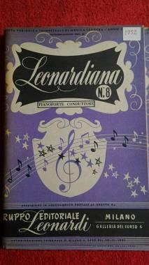 LEONARDIANA N° 8 ( 7 PARTI SEPARATE ) ALBUM CON 18 BRANI - ED.LEONARDI 1951