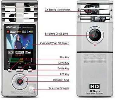 ZOOM Q3 HD registratore audio video