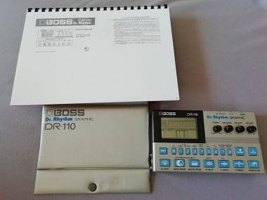 Boss DR 110 ROLAND drum machine synth vintage TR 707 626 505 TD6 TD3 808