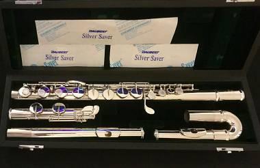 "Flauto in Sol Jupiter ""diMedici"" argento sterling COME NUOVO"