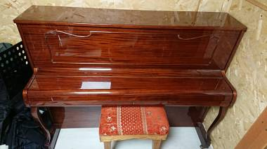 Pianoforte Geyer made in Germany meccanica e mobile tedesco con Panca TRATTABILE