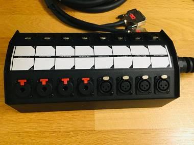 Custom StageBox 12 XLRM/4 TRS/ 2 DB25 da 5 metri
