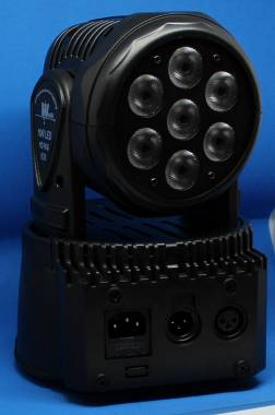 DUE MINI TESTA MOBILE A LED7X10W FULLCOLOR RGBW Nuovo