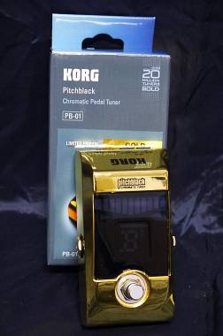 Korg Pitchblack PB01 Limited Edition Gold Accordatore Cromatico a Pedale