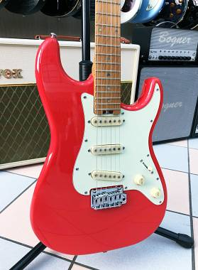 SCHECTER TRADITIONAL ROUTE 66 SANTA FE FIESTA RED SSS LIMITED EDITION!