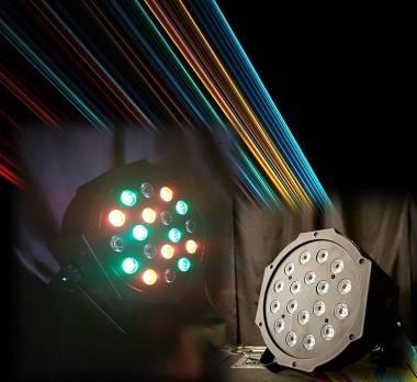 PAR FARO luce  18 LED RGB strobo disco lights Part