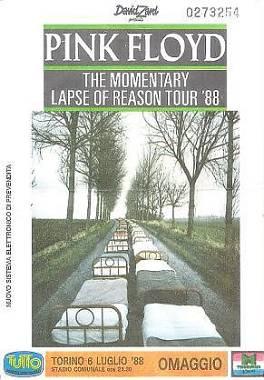 Pink Floyd - The Momentary Lapse of Reason Tour '88 (biglietti da collezione)