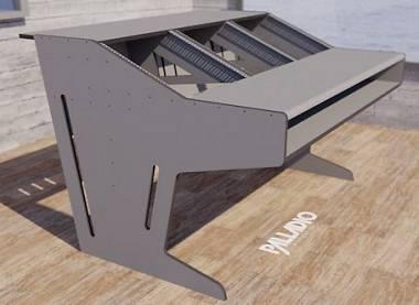 Mobile con 3 spazi rack + cassetto per keyboard