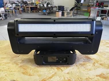 DOPPIA BARRA LED MOTORIZZATA CON PAN/TILT INFINITO RGBW