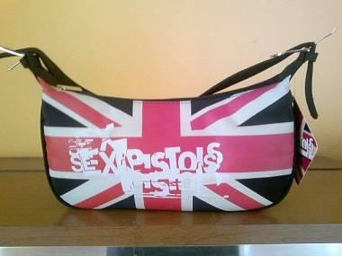 """BORSA DONNA /BAG """"SEX PISTOLS Brit Flag"""" Prodotto Ufficiale Come Nuova,Mai Usata"""