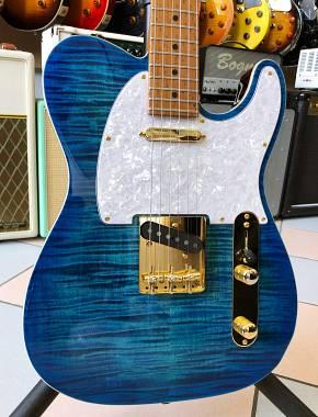 Suhr Classic T Deluxe Limited SS ABB Aqua Blue Burst MN