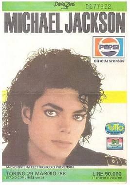 Michael Jackson - Bad World Tour 1988 (biglietto-scheda concerto da collezione)