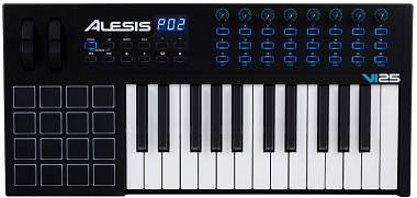 ALESIS VI25 CONTROLLER TASTIERA MIDI / USB 25 TASTI SEMIPESATI