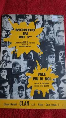 """ADRIANO CELENTANO """"MONDO IN MI 7a"""" + ICO CERUTTI """"VALE PIU' DI NOI""""ED.CLAN 1966"""