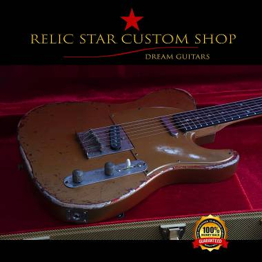 RELIC STAR CUSTOM SHOP t-'50 Copper on candy apple red upgraded Telecaster