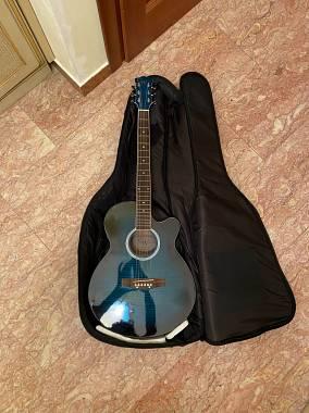 GW Guitars Chitarra acustica elettrificata GW Gradiente blu