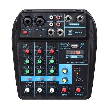 Oqan OQAN MIXER Q MINI USB - MIXER 4 CANALI CON  USB/ BLUETOOTH MP3 PLAYER