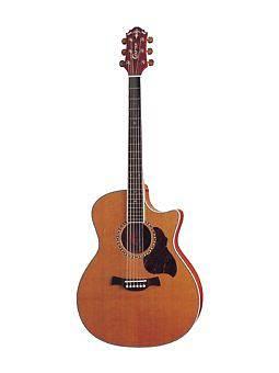 Crafter Guitars GAE-7 N acustica con body Grand Auditorium a spalla mancante