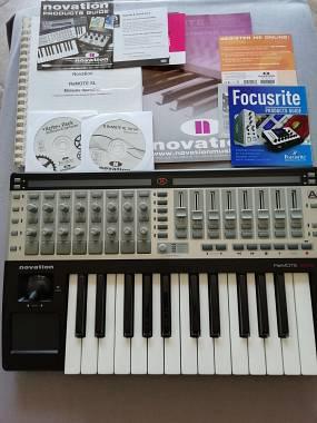 Novation Remote SL25 midi controller keyboard tastiera ableton logic