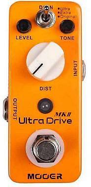 MOOER ULTRA DRIVE MKII DISTORTION PEDAL - MICRO SERIES