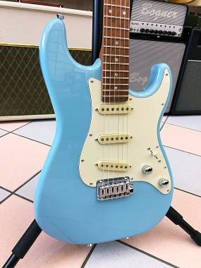 SCHECTER  TRADITIONAL  ROUTE 66 CHICAGO S/S/S-SUGAR PAPER BLUE MADE IN USA
