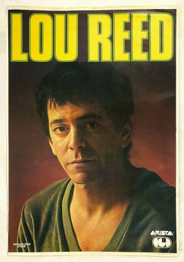 "Lou Reed Poster promozionale di ""Growing up in Public"" 1980"